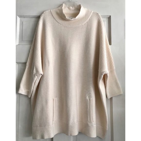 Girl With Curves Sweaters - Mock Turtleneck Tunic Sweater